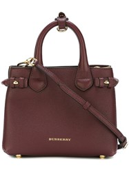 Burberry Square Tote Red
