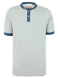 Racing Green Graduate Stripe Henley Top Blue