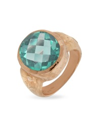 Torrini Stefy Green Amethyst Oval Gemstone 18K Rose Gold Ring