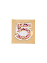 Chanel Vintage 'No.5' Brooch Pink And Purple
