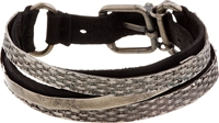 Goti Silver Beaten And Belted Bracelet