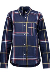 Isabel Marant Thom Checked Cotton Shirt Midnight Blue