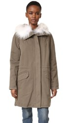 Army By Yves Salomon Classic Parka With Fur Treillis Natural