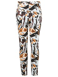 Andrea Marques Skinny Trousers Yellow Orange