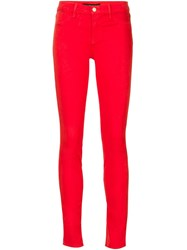 J Brand Skinny Fit Jeans Red