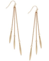 Inc International Concepts Gold Tone Pointed Fringe Earrings Only At Macy's