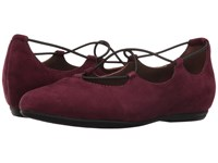 Essen Earthies Prune Suede Women's Flat Shoes Burgundy