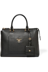 Prada Textured Leather Tote Black