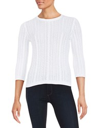 Lord And Taylor Cableknit Sweater White