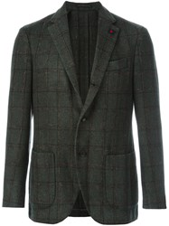 Lardini 'Supersoft' Checked Blazer Green