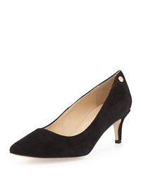Neiman Marcus Stroll Low Heel Point Toe Pump Black