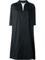 Max Mara Three Quarter Length Sleeve Shirt Dress Black