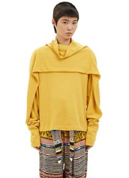 Anntian Layered Roll Neck Sweater Yellow