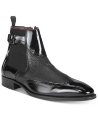 Mezlan Men's Moulins Wingtip Chelsea Boots Men's Shoes Black