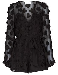 Alice Mccall Black Wild Flowers Playsuit