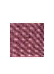 Armani Collezioni Diamond Jacquard Silk Pocket Square Red