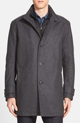 Marc New York By Andrew Marc 'Morningside' Wool Blend Car Coat Charcoal