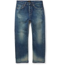 Chimala Slim Fit Cropped Selvedge Denim Jeans Blue