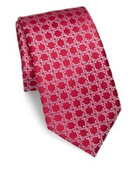 Charvet Printed Silk Tie Red