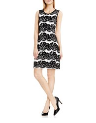 Vince Camuto Lace Jacquard Flare Dress Antique White