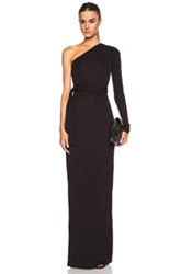 Diane Von Furstenberg Coco One Shoulder Rayon Maxi Dress In Black