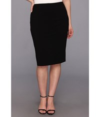 Vince Camuto Plus Size Midi Tube Skirt Rich Black Women's Skirt
