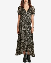 Denim And Supply Ralph Lauren Floral Print Gauze Wrap Dress Floral Mutli