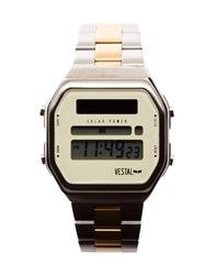 Vestal Syncratic Watch Silver Gold Silver