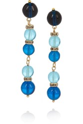 Etro Gold Plated Bead And Swarovski Crystal Earrings