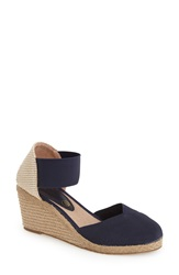 Andre Assous Andre Assous 'Anie' Espadrille Wedge Women Navy Fabric