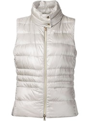 Herno Padded Gilet Metallic