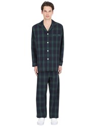 Brooks Brothers Black Watch Light Cotton Set Pajamas