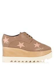 Stella Mccartney Elyse Lace Up Platform Shoes Nude Multi