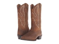 Ariat Sport R Toe Earth Sable Cowboy Boots Brown