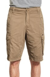 Men's Union 'Pacific Coast' Raw Hem Cargo Shorts Vintage Khaki