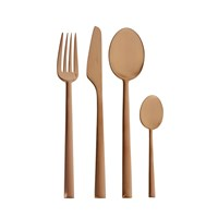 Cutipol Rondo Matt Copper Cutlery Set 24 Piece