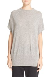 Vince Women's Cap Sleeve High Neck Cashmere Sweater Heather Steel