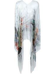 Faliero Sarti Sheer Printed Kaftan Multicolour
