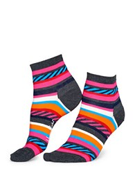 Happy Socks Multi Striped Ankle Bright Stripe