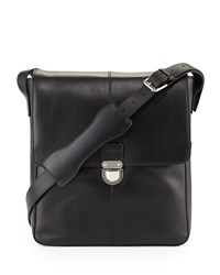 Cole Haan Leather North South Messenger Bag Black