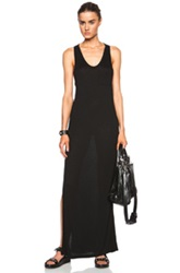 T By Alexander Wang Classic Viscose Tank Dress With Pocket In Black