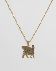 Seven London Hieroglyphics Necklace In Gold Gold