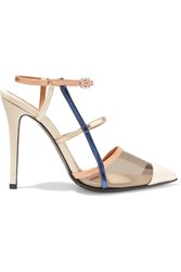Fendi Textured Leather And Pvc Pumps