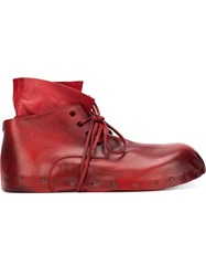 Rundholz Gathered Front Detail Lace Up Boots