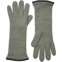 Barneys New York Double Knit Gloves Green