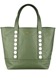Muveil Faux Pearl Shopper Tote Green