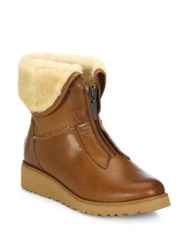 Ugg Caleigh Zip Front Wedge Boots Chestnut