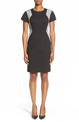 Women's Ellen Tracy Colorblock Ponte Sheath Dress Black
