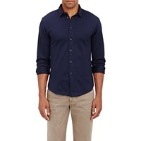 Etro Diamond Jacquard Dress Shirt Navy