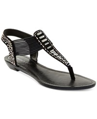 Madden Girl Madden Girl Triixie T Strap Flat Sandals Women's Shoes Black